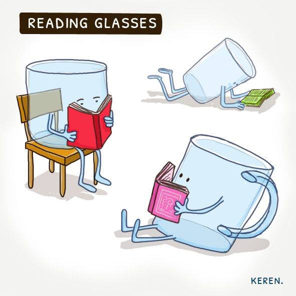 reading glasses, glasses reading