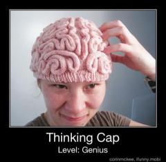 slob, humor, brain thinking cap